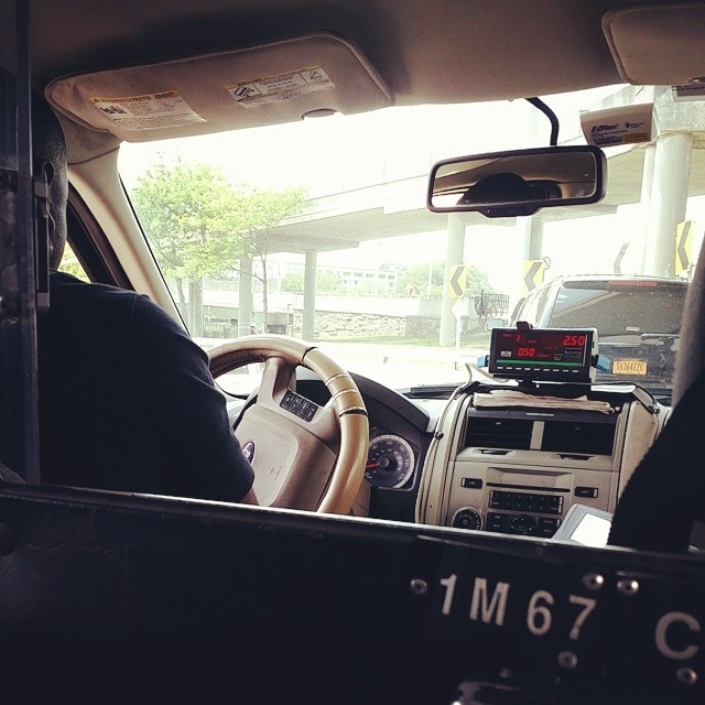 new york city inside of cab